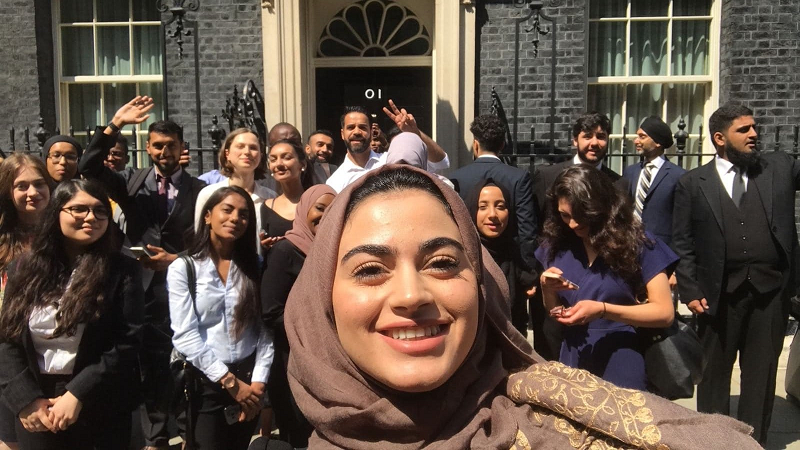 Participants visit 10 Downing Street